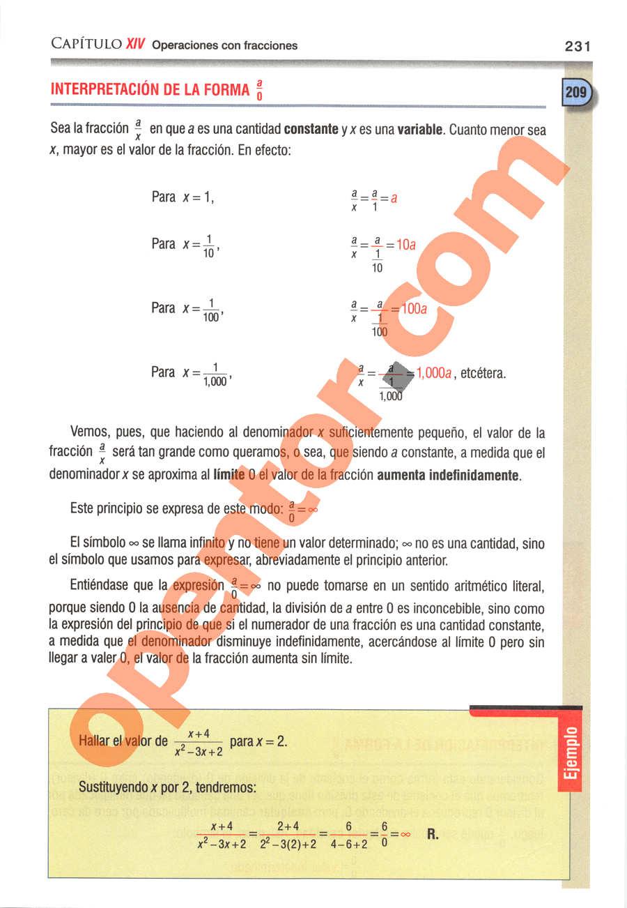 Álgebra de Baldor - Página 231