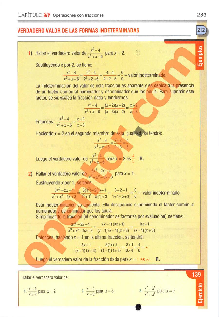 Álgebra de Baldor - Página 233