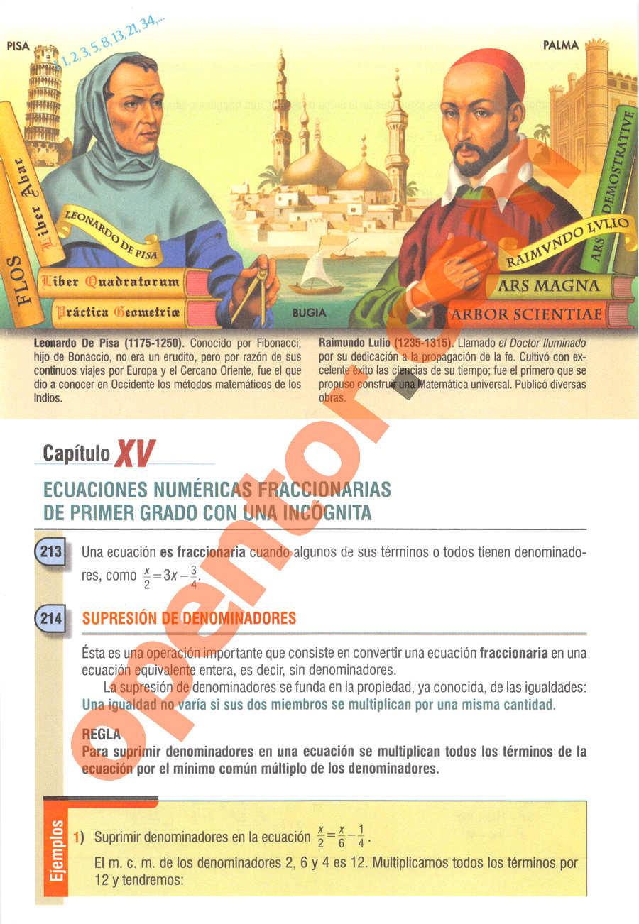 Álgebra de Baldor - Página 236