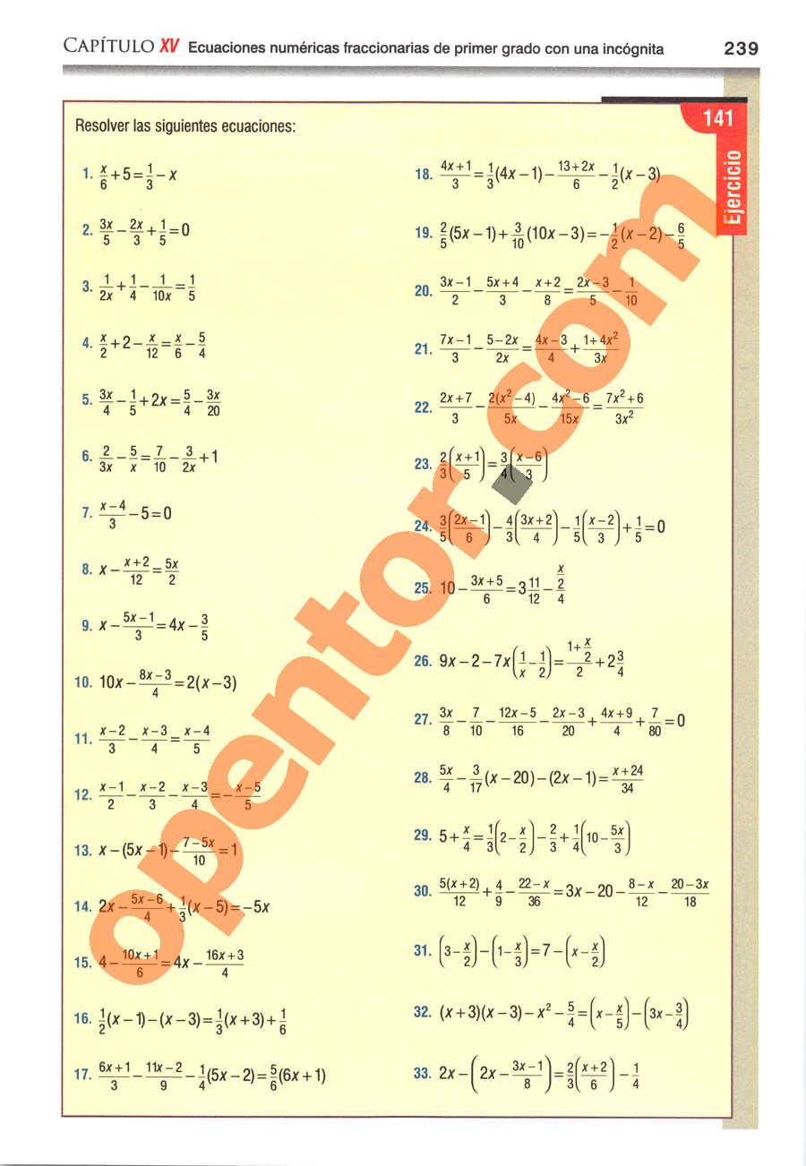 Álgebra de Baldor - Página 239
