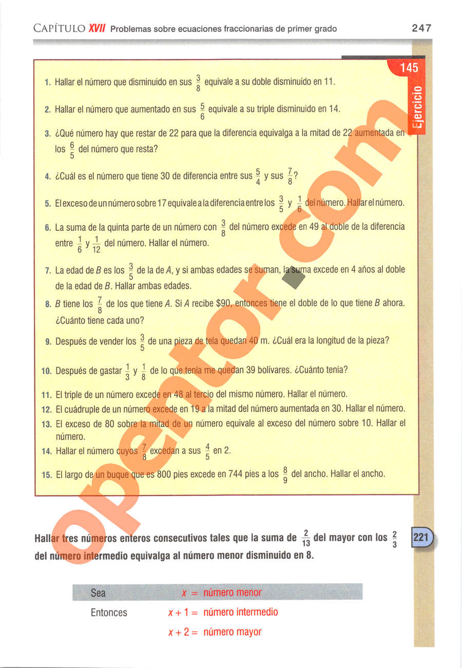 Álgebra de Baldor - Página 247