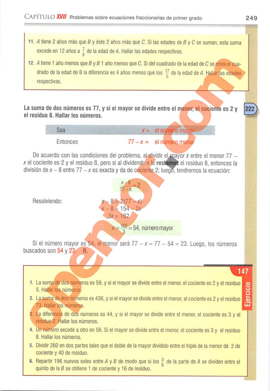 Álgebra de Baldor - Página 249