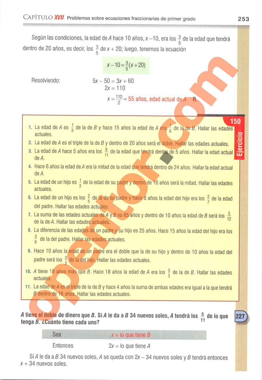 Álgebra de Baldor - Página 253