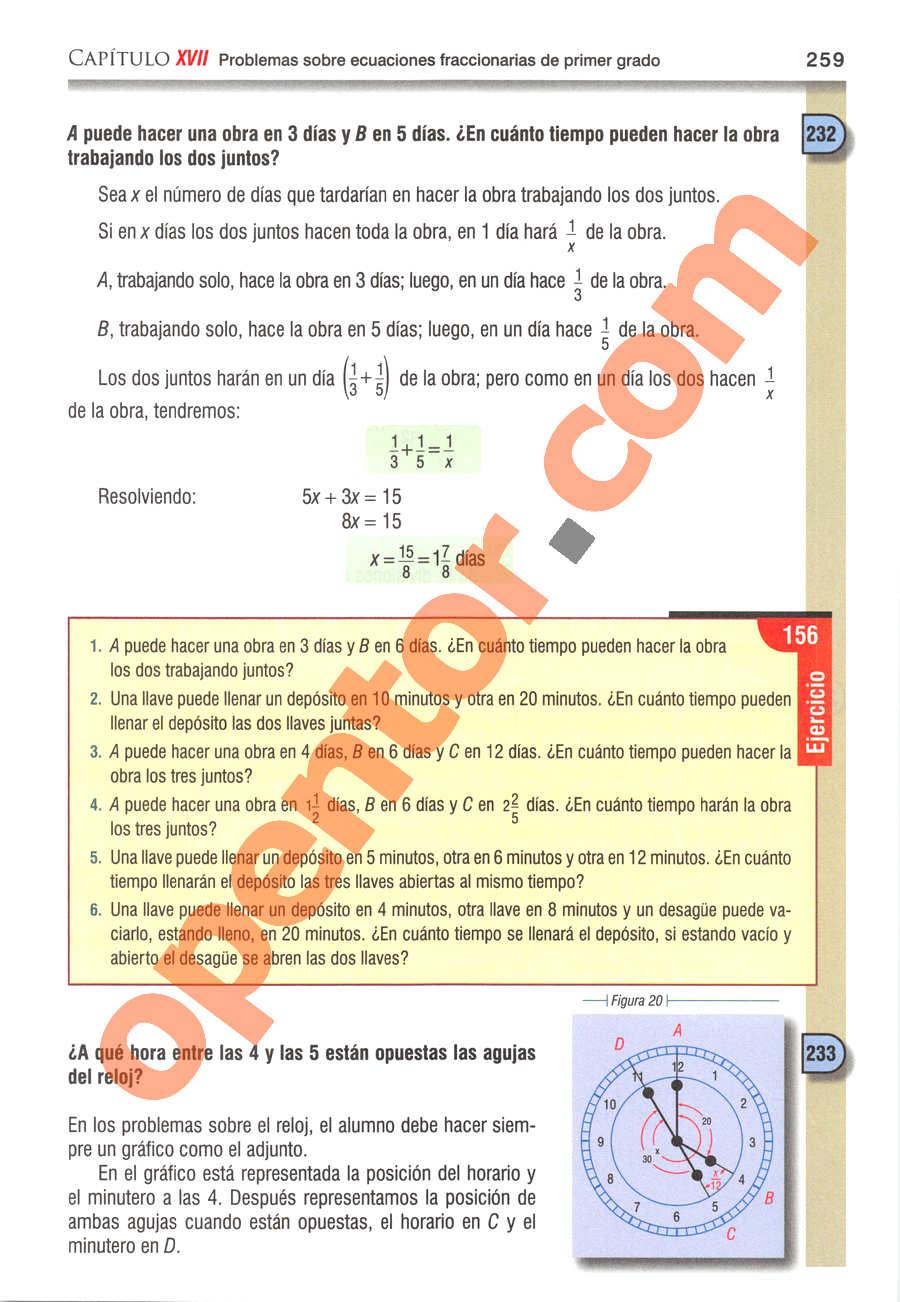 Álgebra de Baldor - Página 259