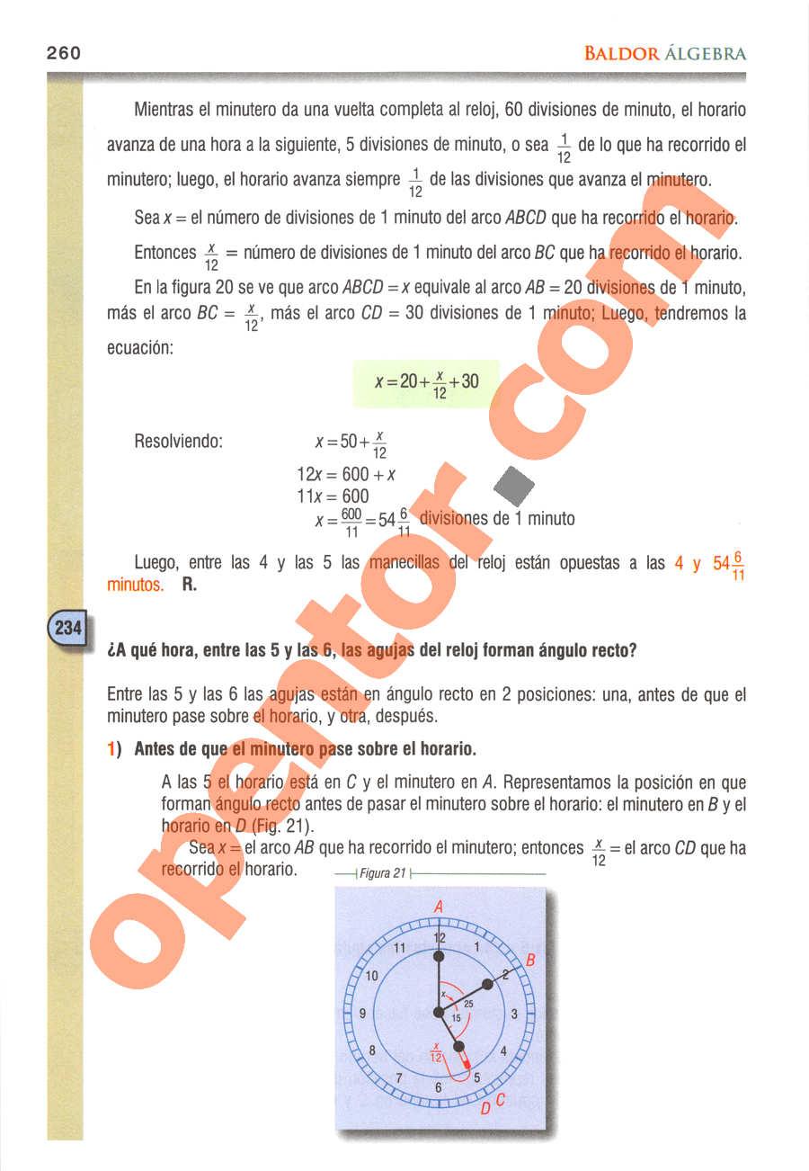 Álgebra de Baldor - Página 260