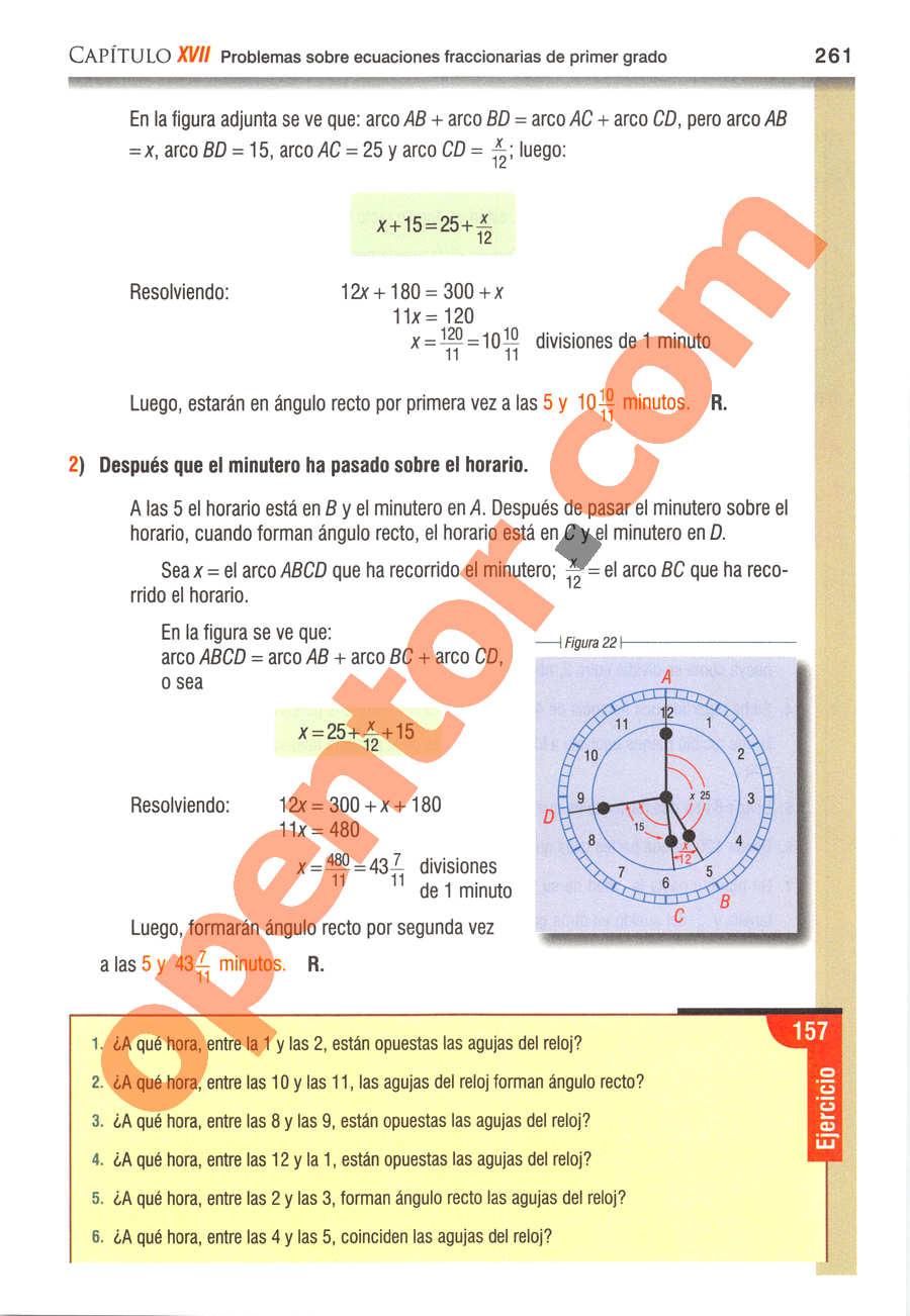 Álgebra de Baldor - Página 261
