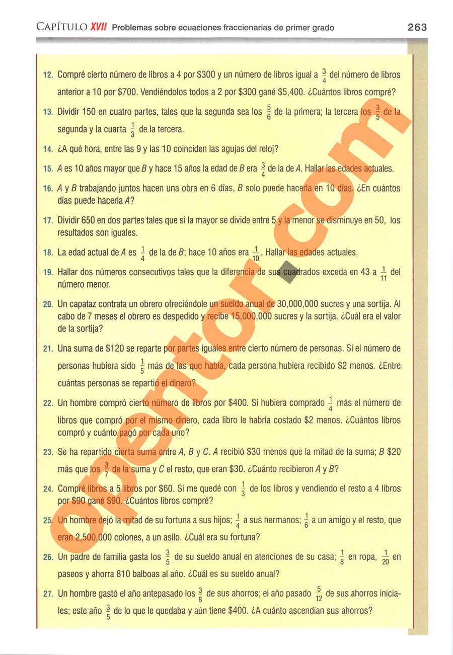 Álgebra de Baldor - Página 263