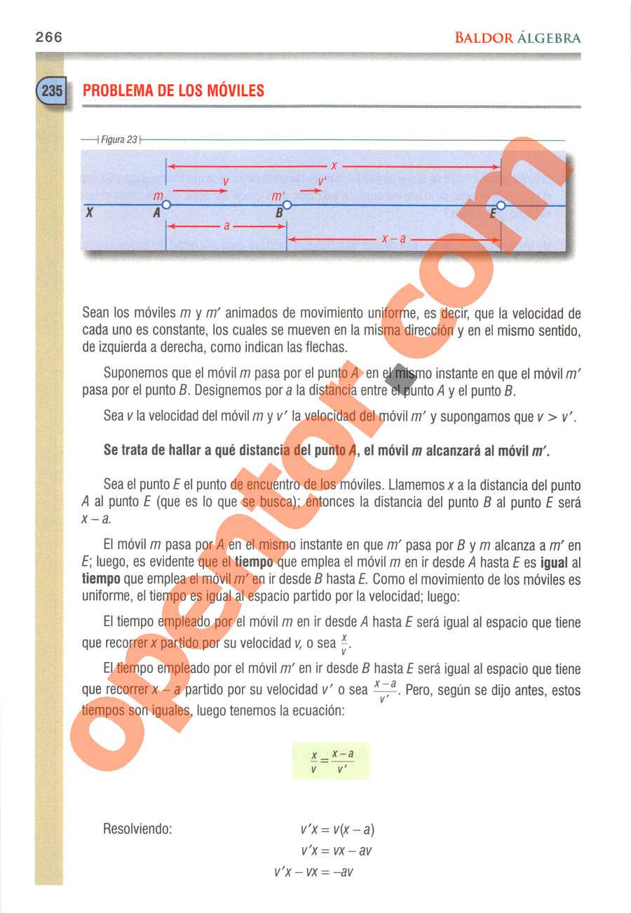 Álgebra de Baldor - Página 266