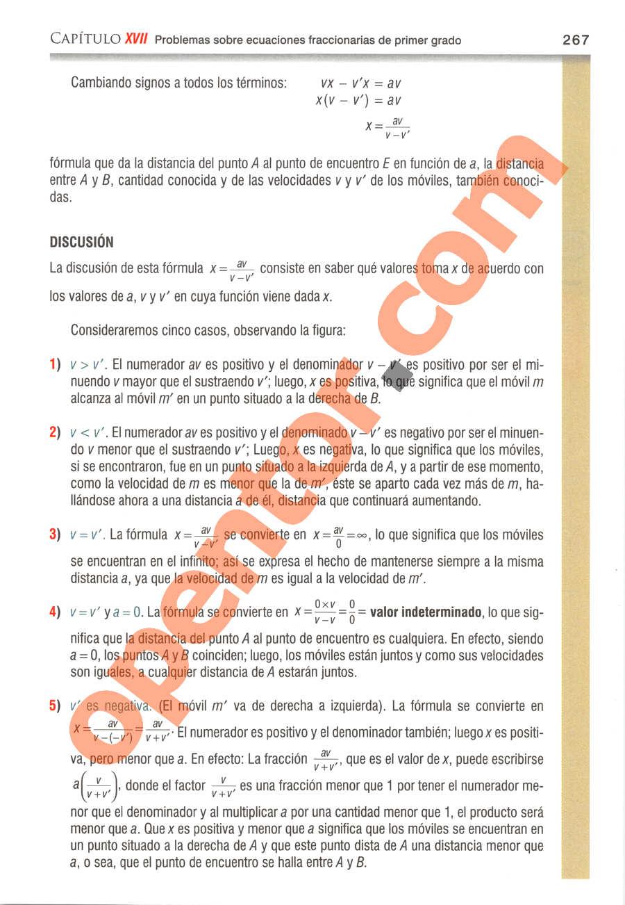 Álgebra de Baldor - Página 267