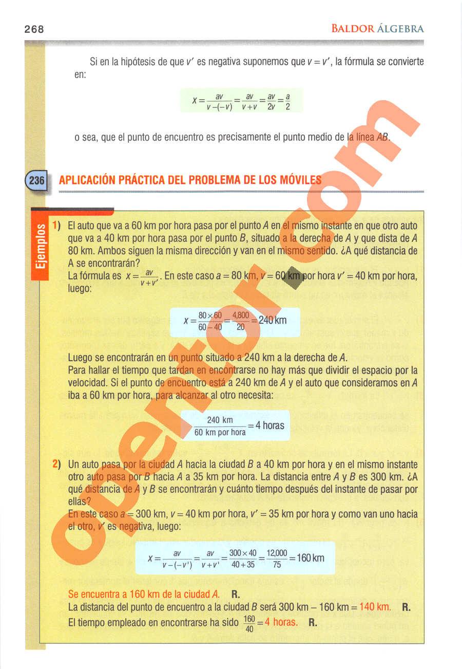 Álgebra de Baldor - Página 268