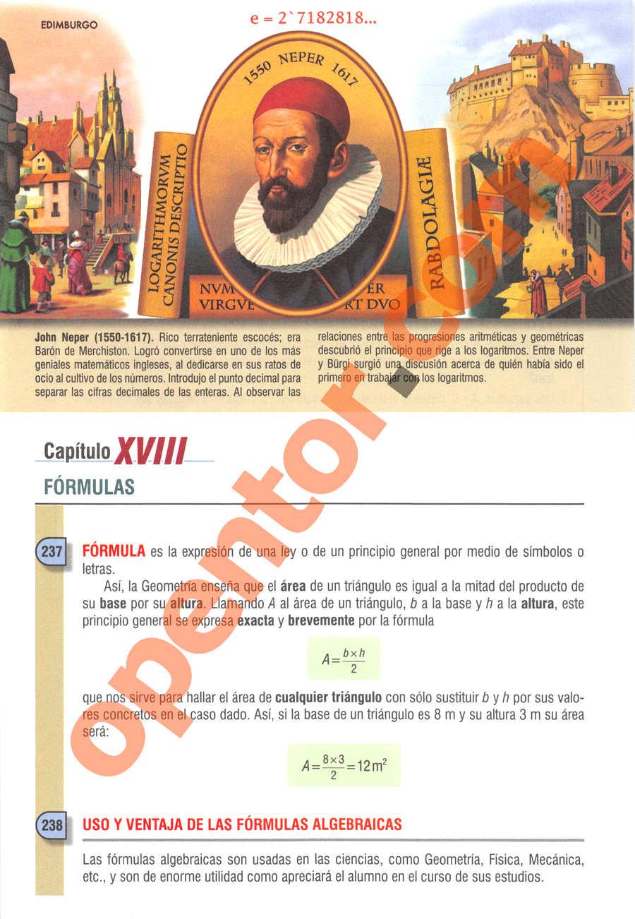 Álgebra de Baldor - Página 270