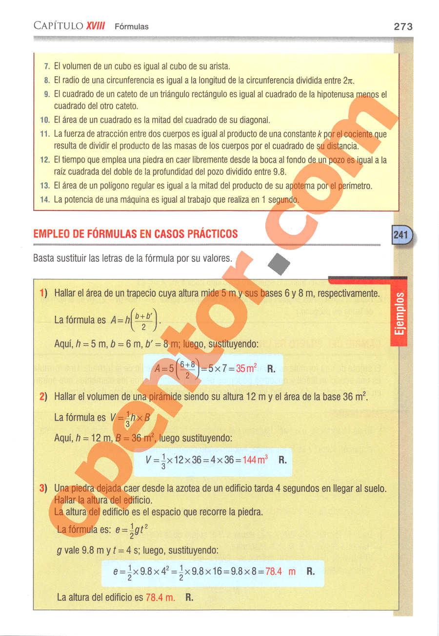 Álgebra de Baldor - Página 273