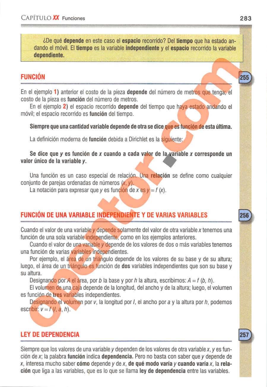 Álgebra de Baldor - Página 283