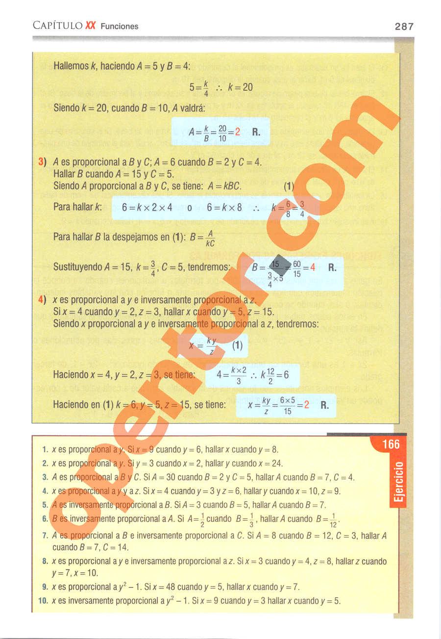 Álgebra de Baldor - Página 287