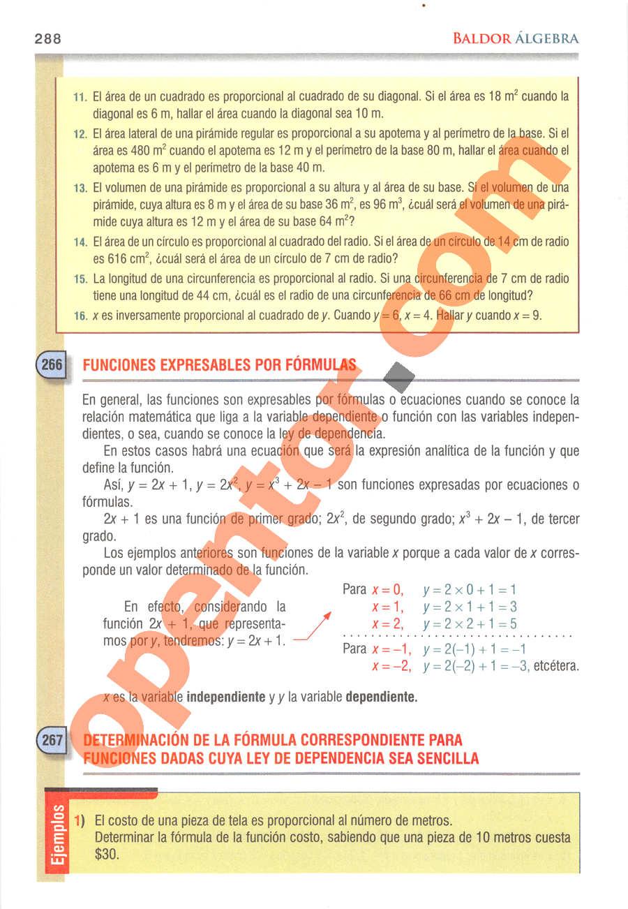 Álgebra de Baldor - Página 288