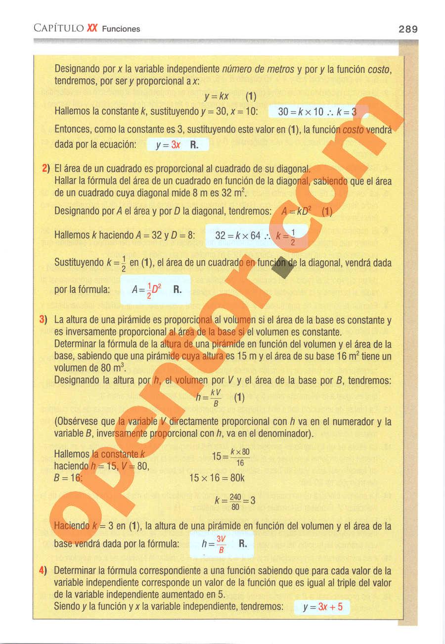 Álgebra de Baldor - Página 289