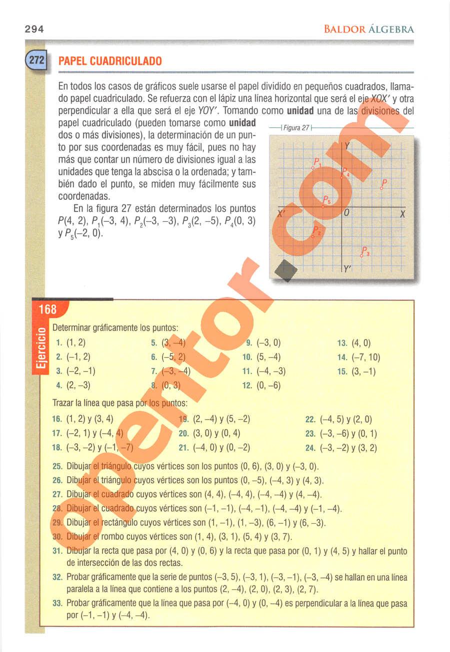 Álgebra de Baldor - Página 294