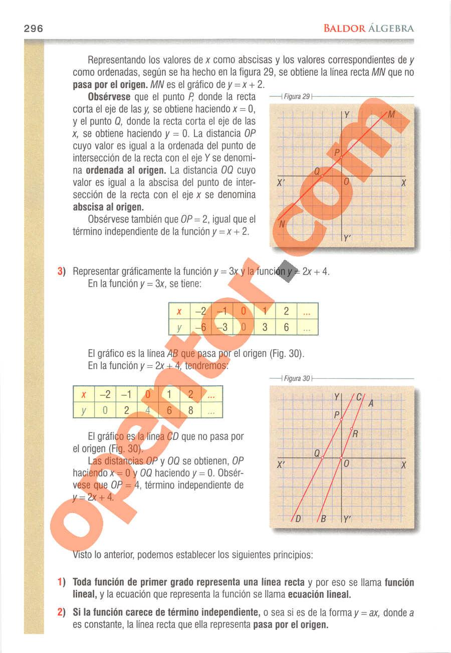 Álgebra de Baldor - Página 296