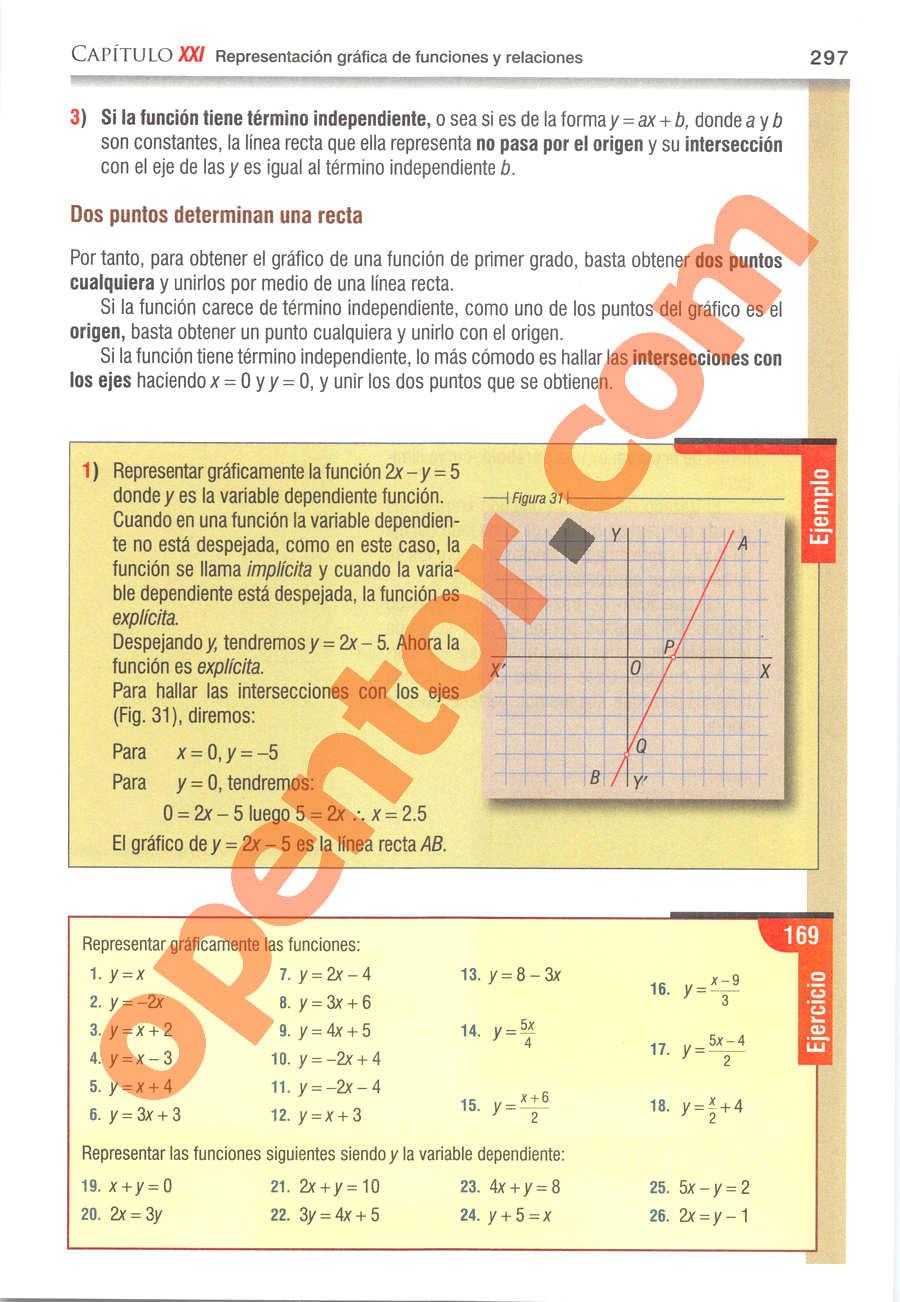 Álgebra de Baldor - Página 297