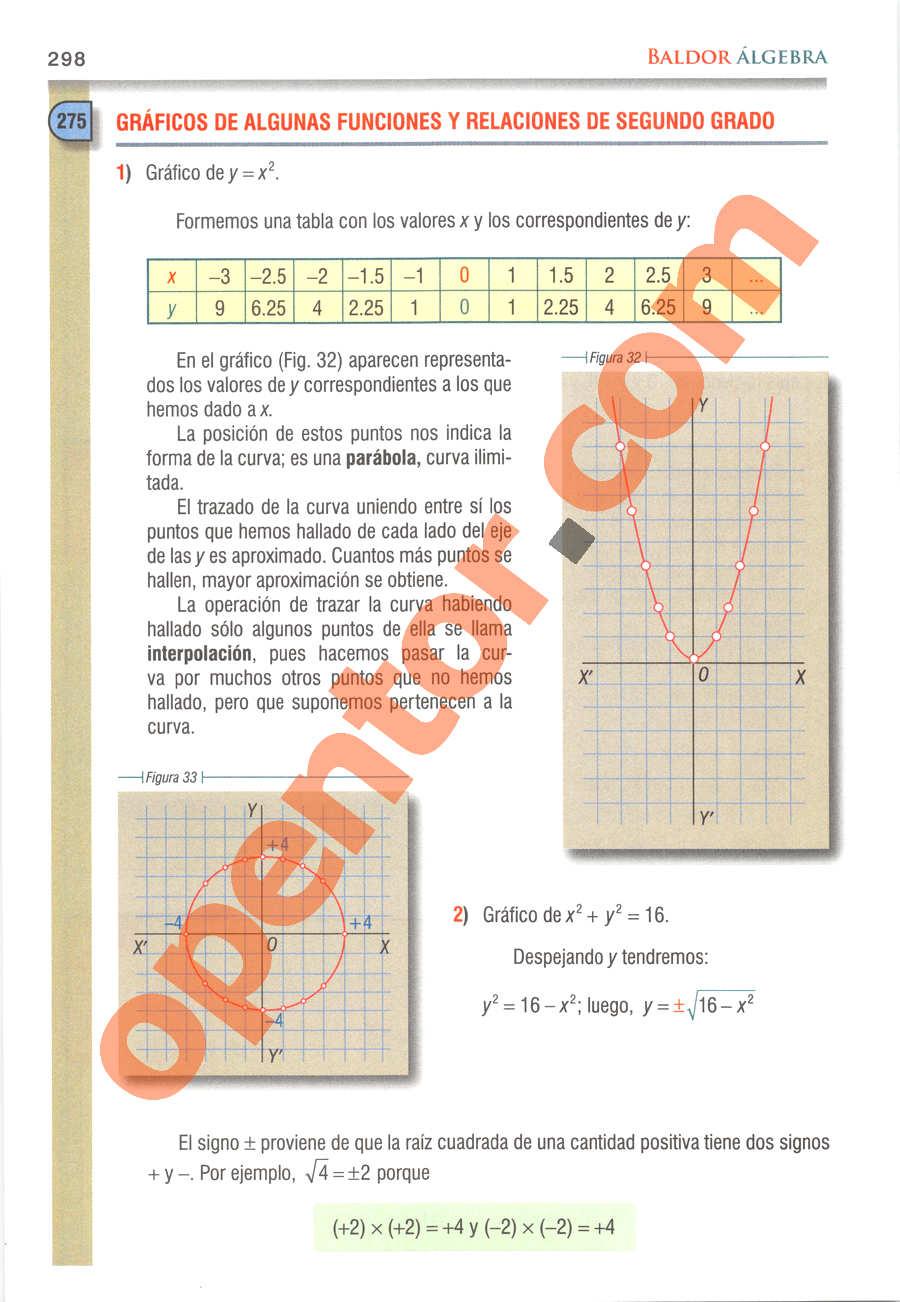 Álgebra de Baldor - Página 298