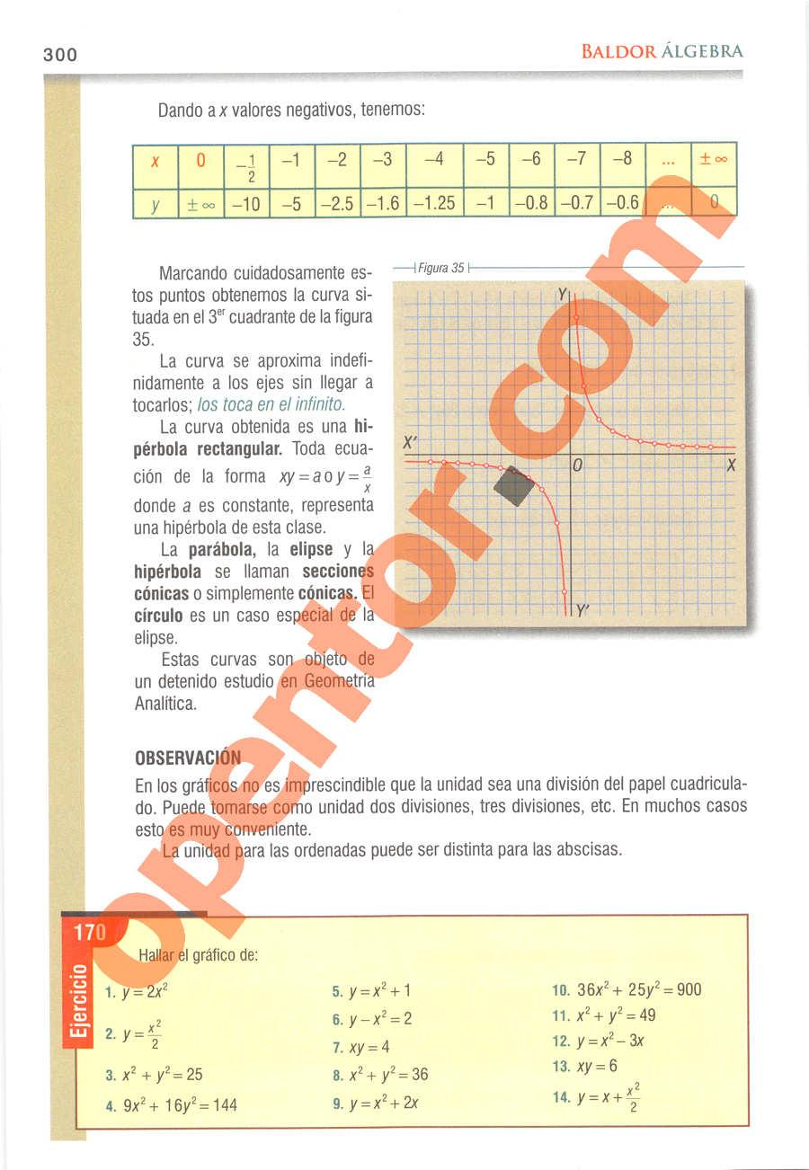 Álgebra de Baldor - Página 300