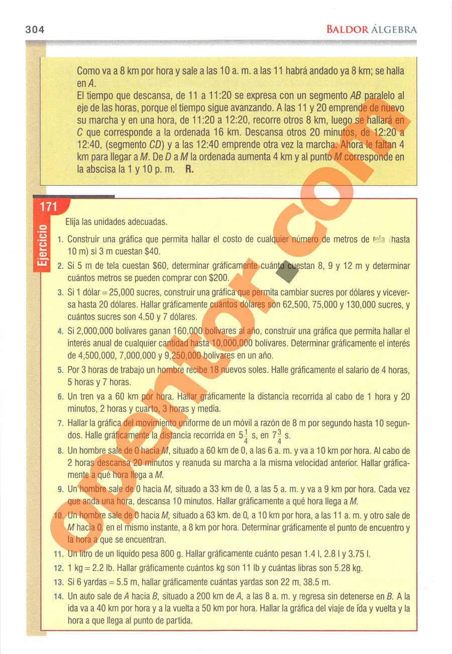 Álgebra de Baldor - Página 304