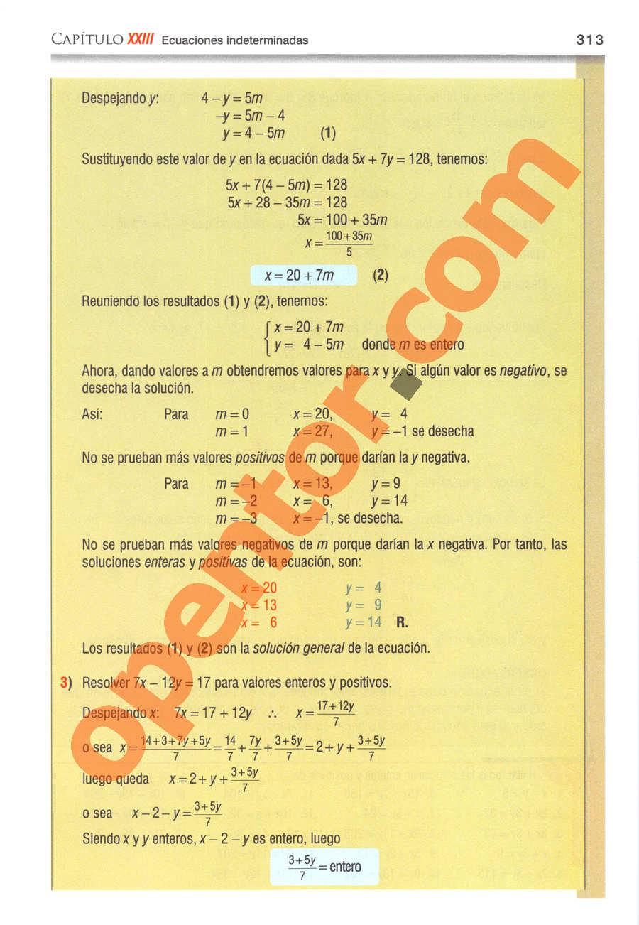 Álgebra de Baldor - Página 313