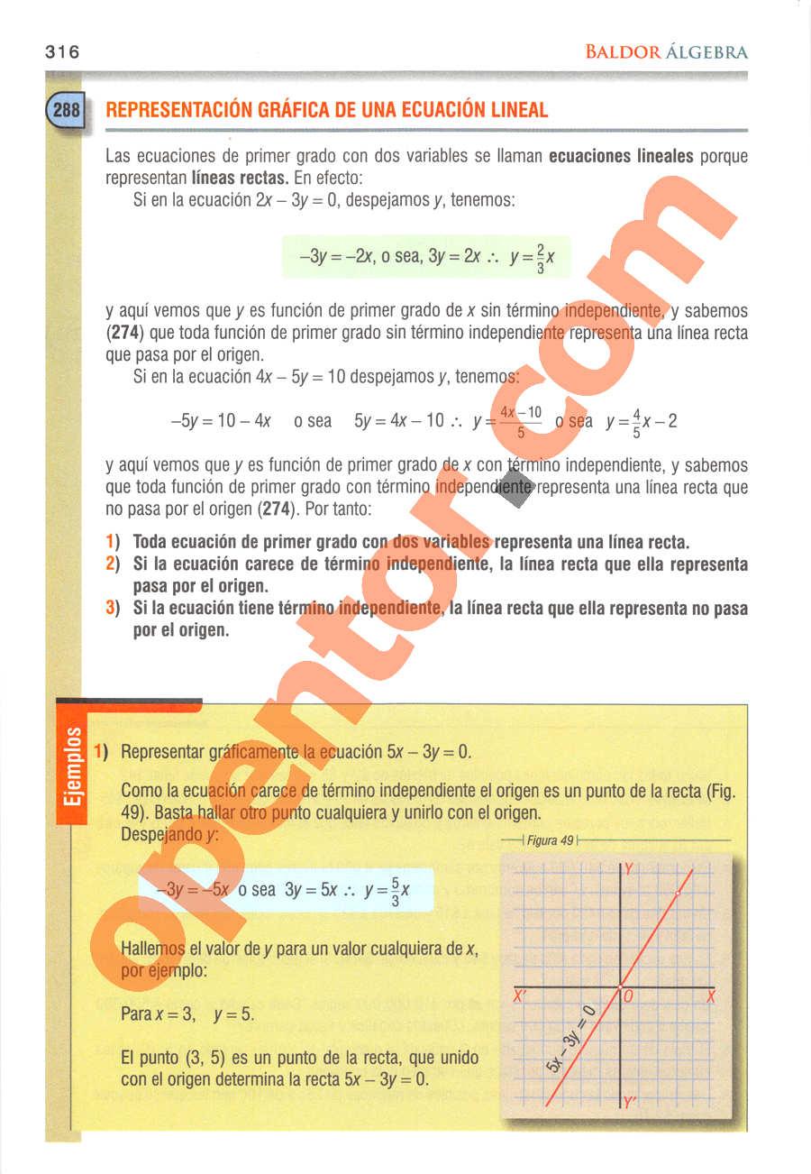 Álgebra de Baldor - Página 316
