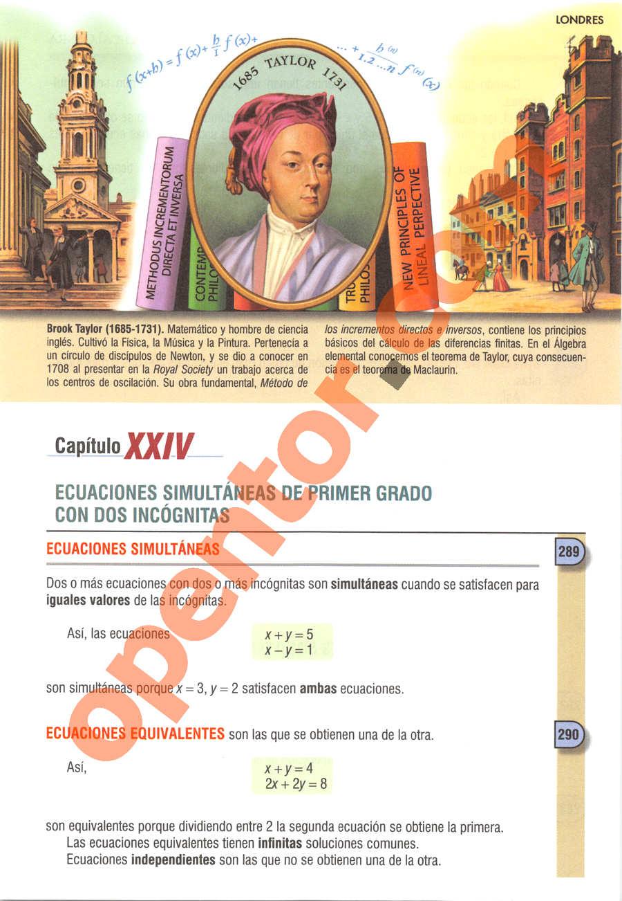Álgebra de Baldor - Página 319