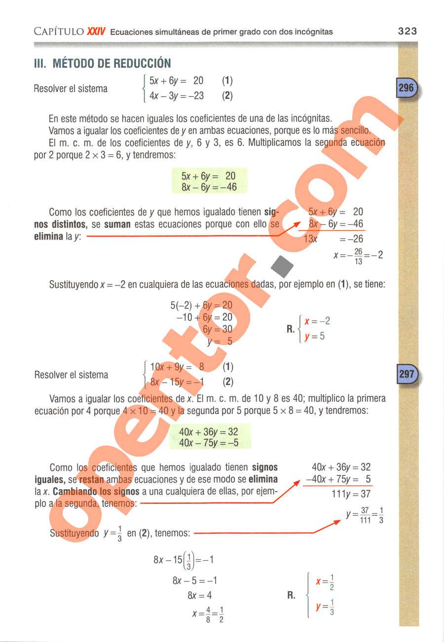 Álgebra de Baldor - Página 323