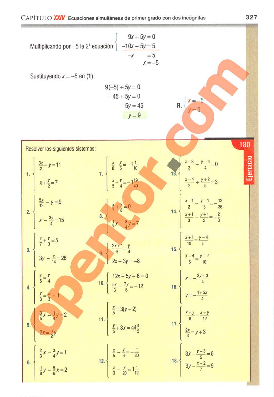 Álgebra de Baldor - Página 327