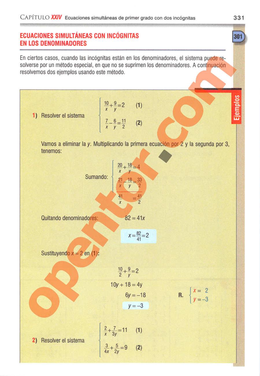 Álgebra de Baldor - Página 331