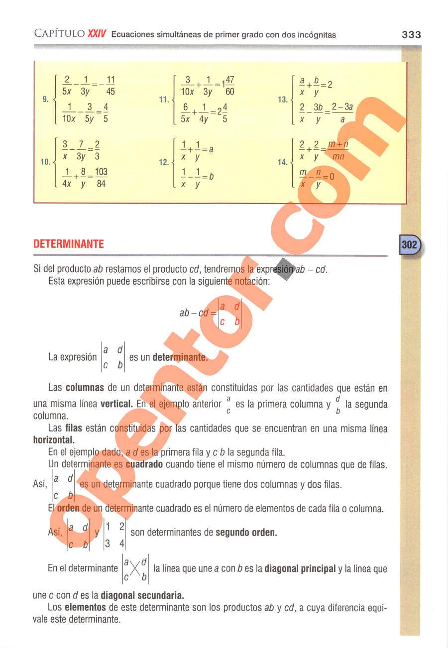 Álgebra de Baldor - Página 333