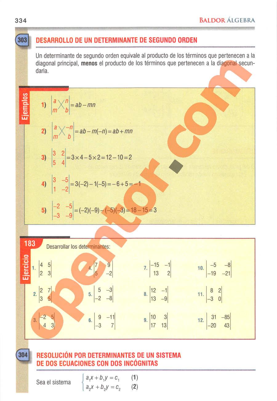 Álgebra de Baldor - Página 334