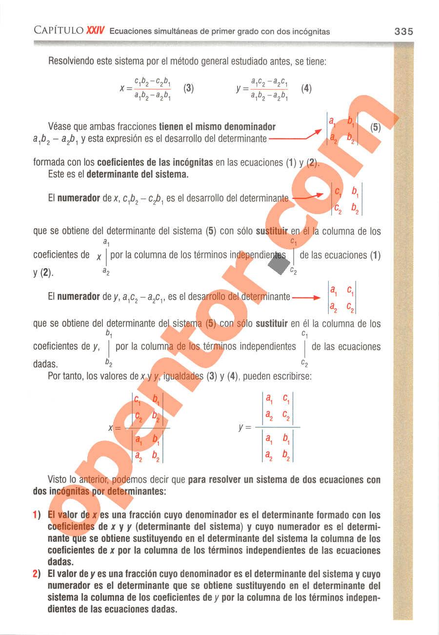 Álgebra de Baldor - Página 335