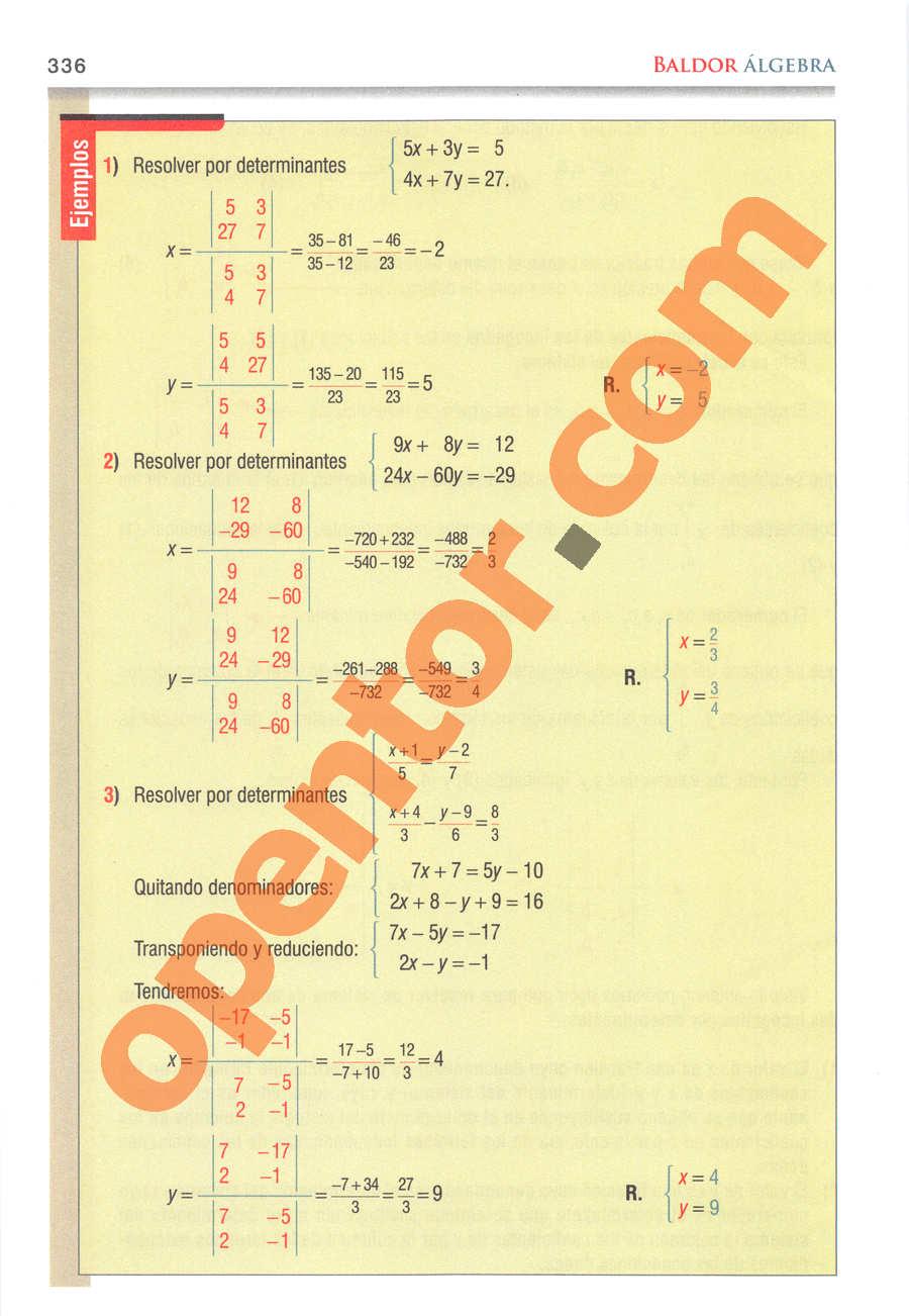 Álgebra de Baldor - Página 336