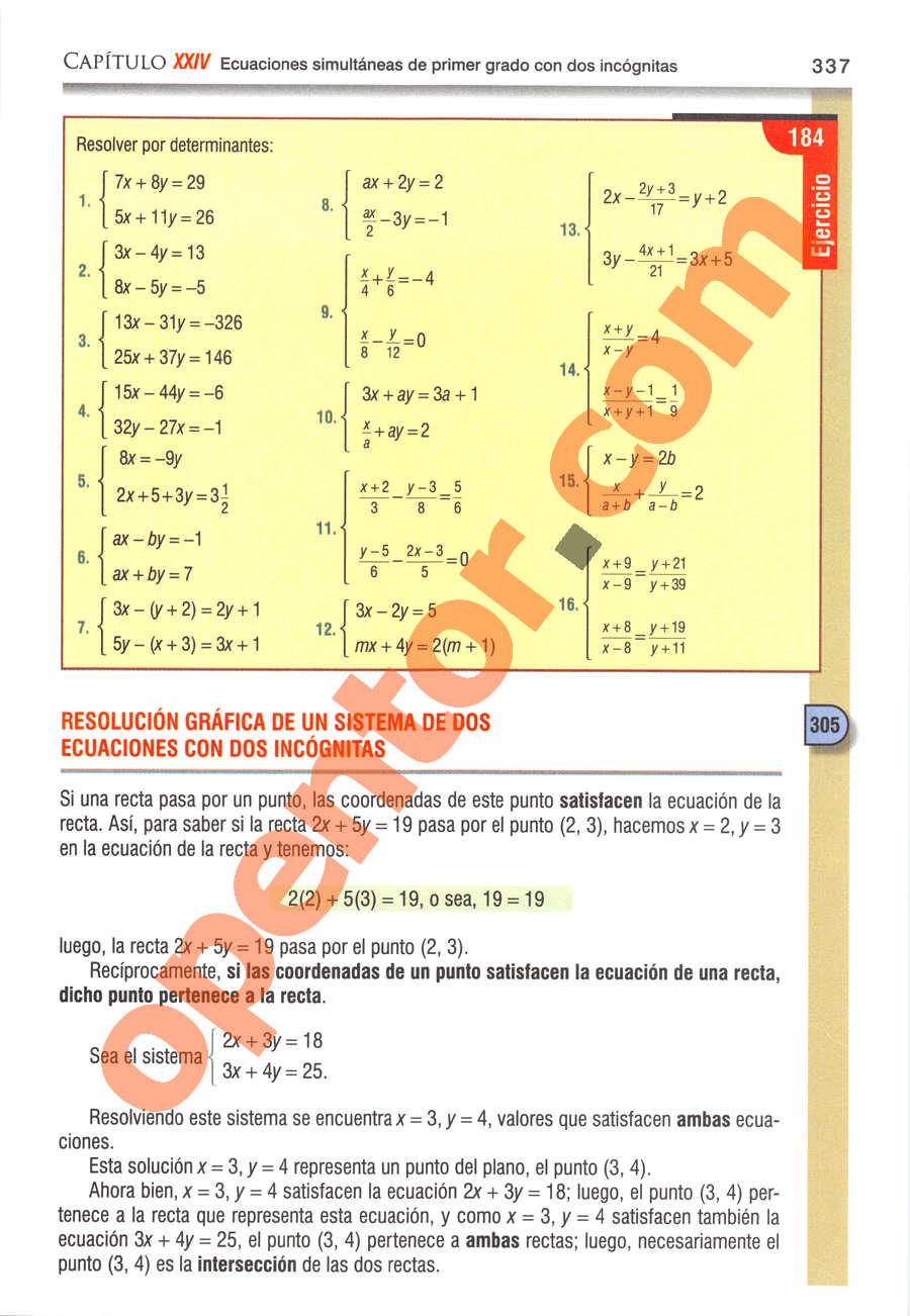 Álgebra de Baldor - Página 337