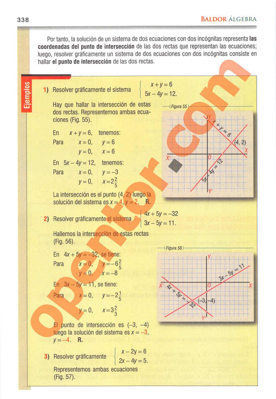 Álgebra de Baldor - Página 338