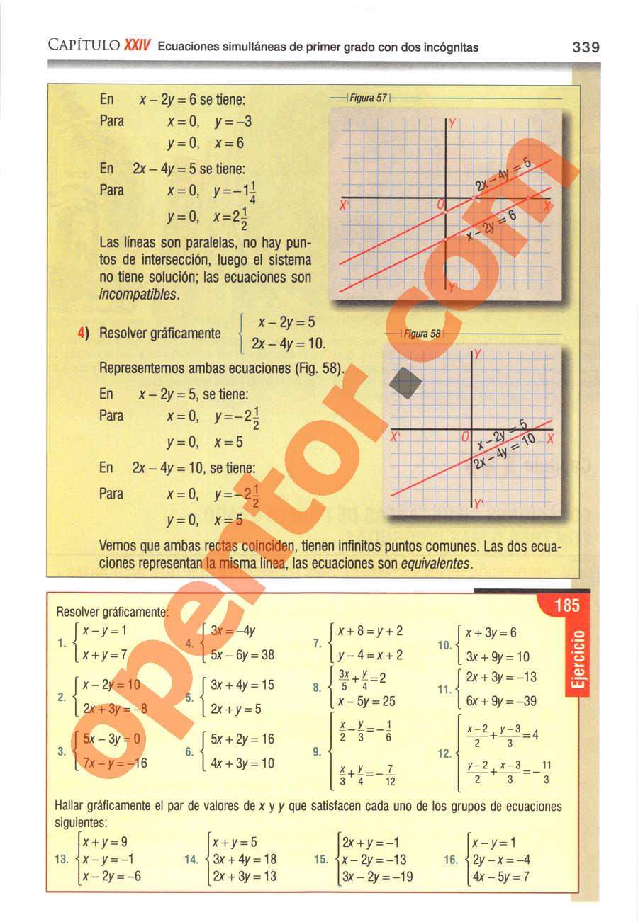 Álgebra de Baldor - Página 339