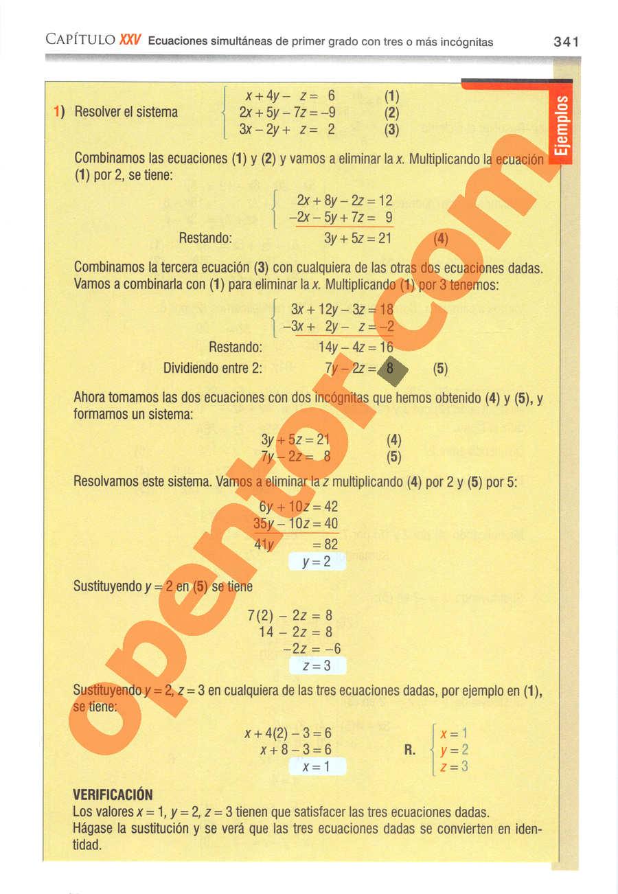 Álgebra de Baldor - Página 341