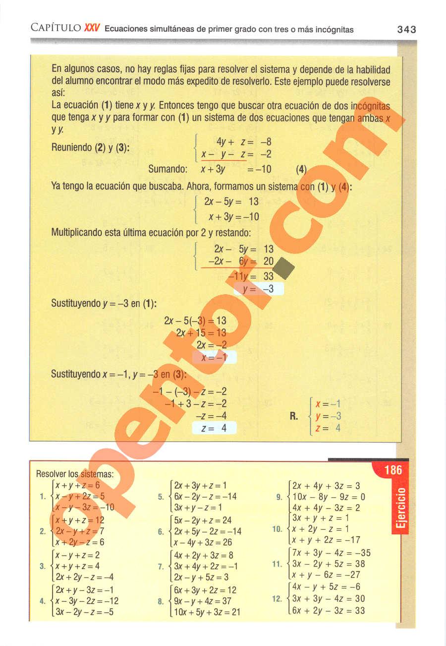 Álgebra de Baldor - Página 343