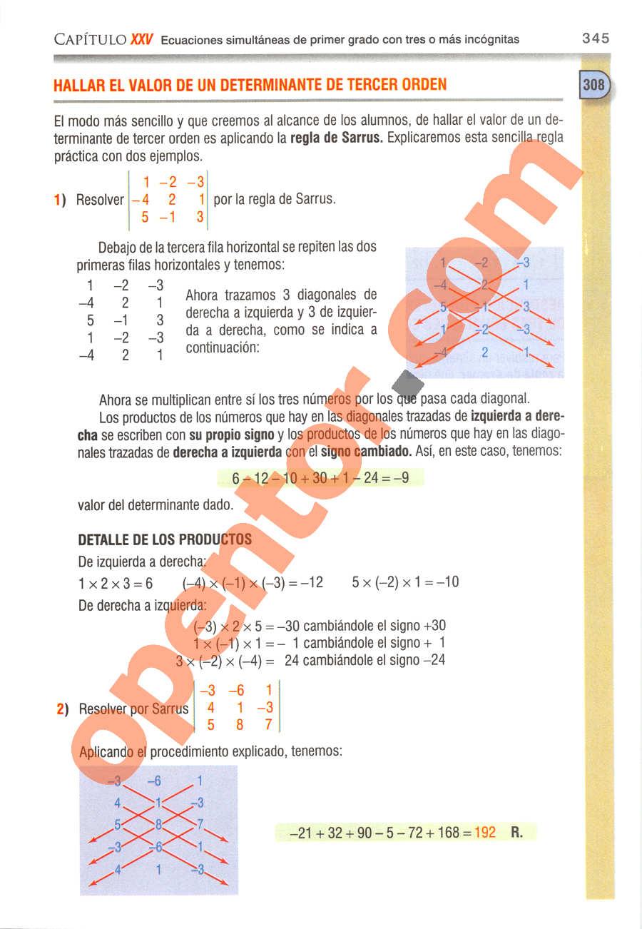 Álgebra de Baldor - Página 345