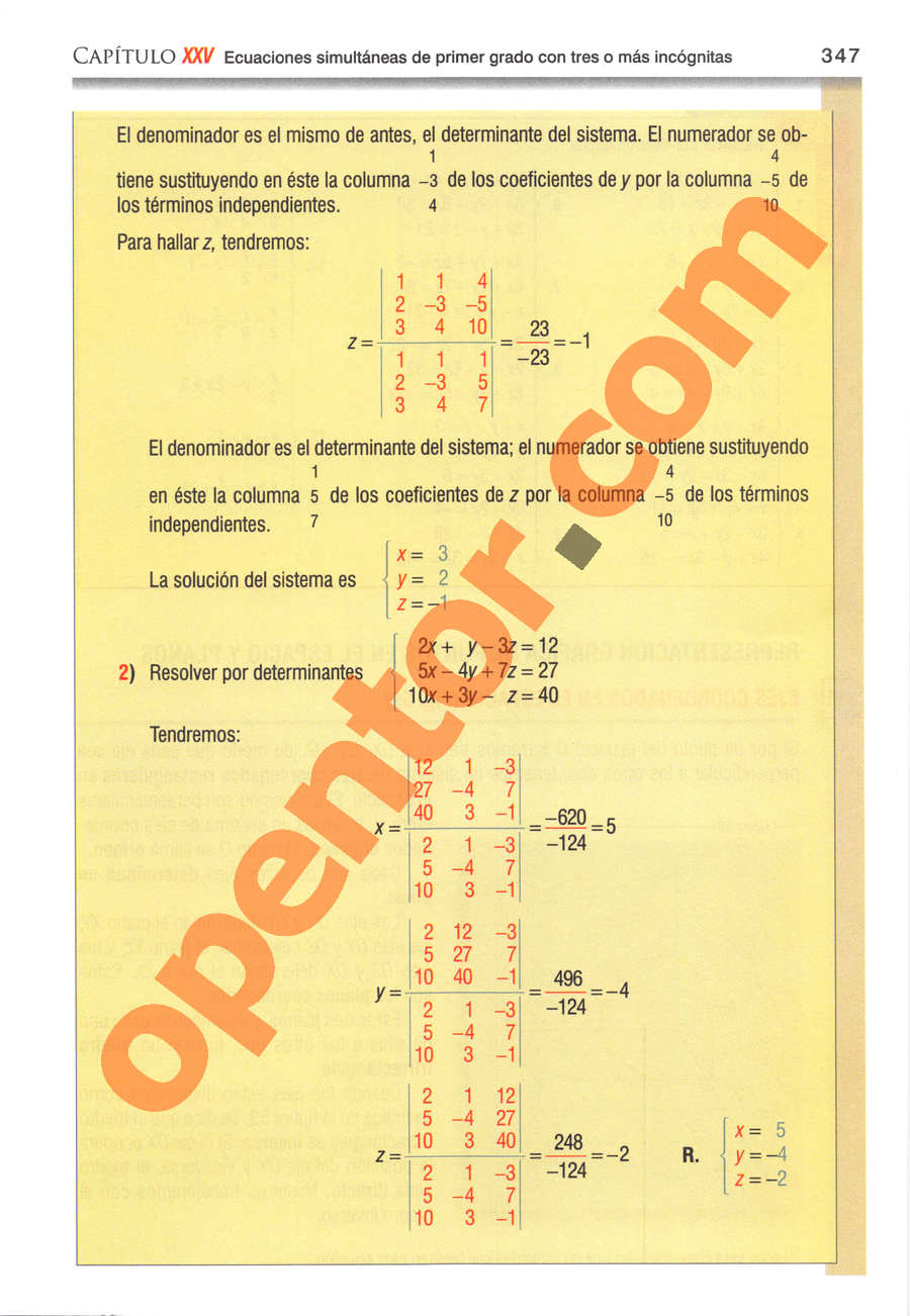 Álgebra de Baldor - Página 347