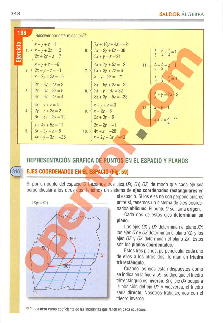 Álgebra de Baldor - Página 348