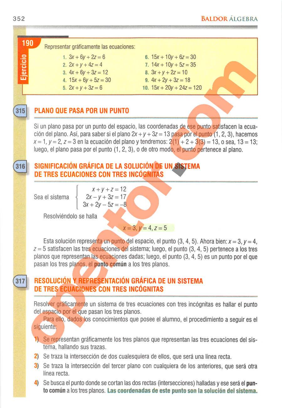 Álgebra de Baldor - Página 352