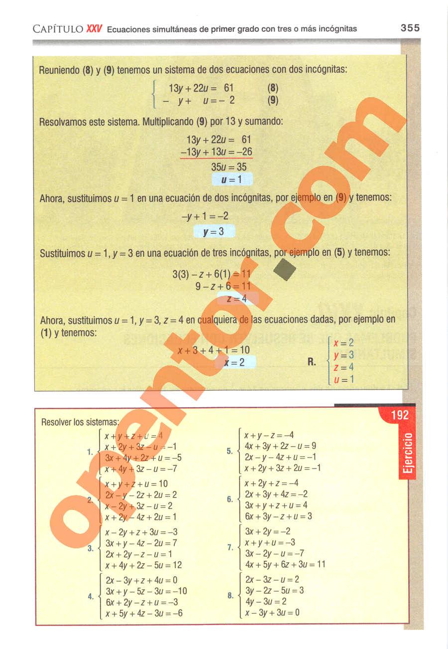 Álgebra de Baldor - Página 355