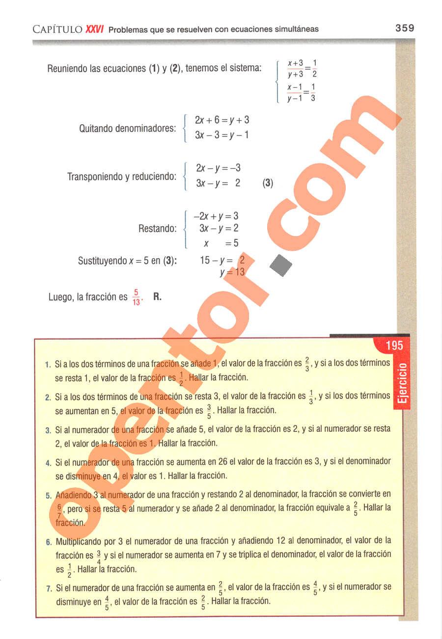 Álgebra de Baldor - Página 359