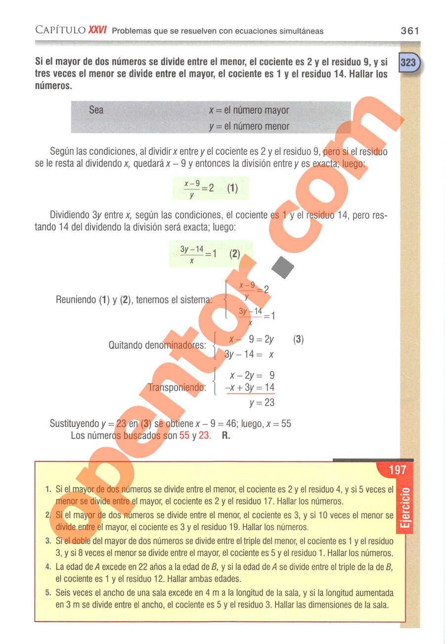 Álgebra de Baldor - Página 361