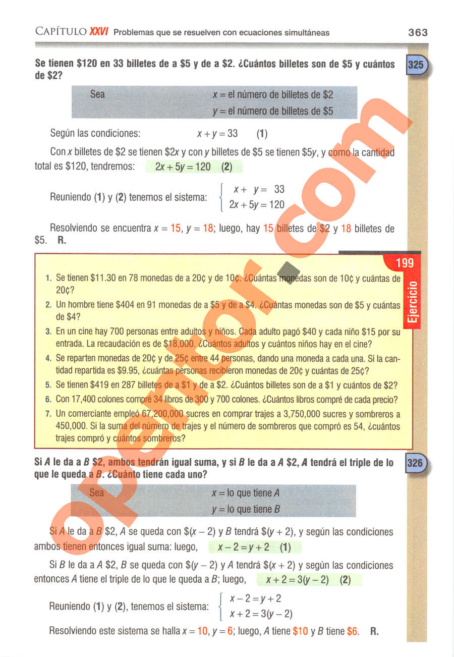 Álgebra de Baldor - Página 363