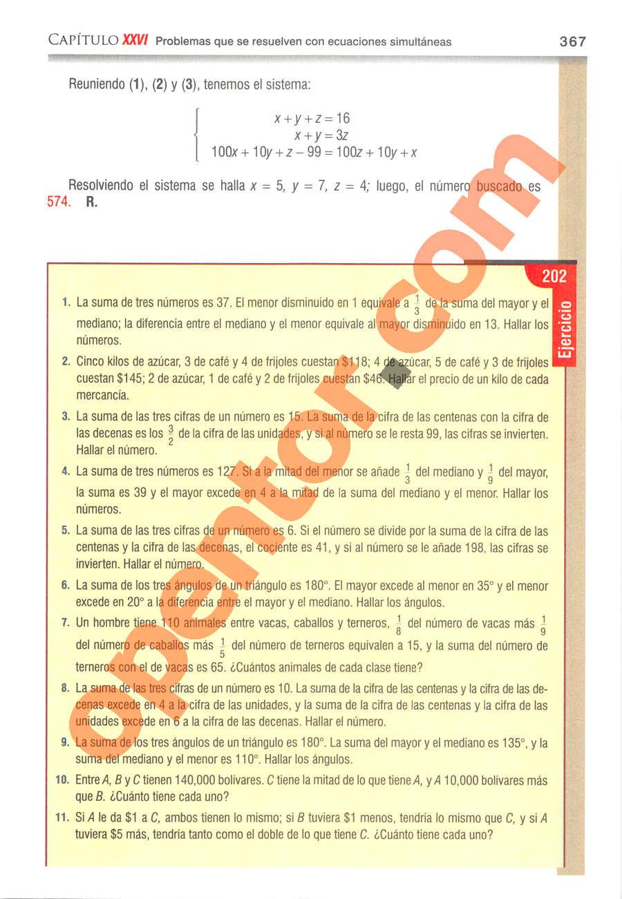 Álgebra de Baldor - Página 367